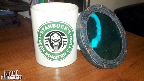 Battlestar Galactica coaster cup mug nerdgasm Starbucks - 5678016512