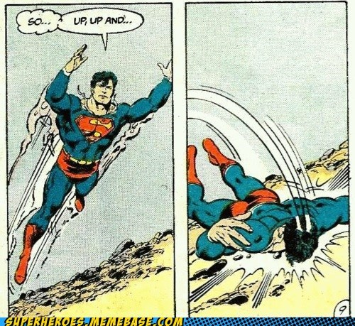 falling,no powers,Saturday Morning Cartoons,superman
