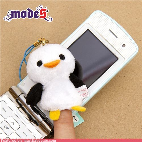 cell phone charm cleaner penguin Plush