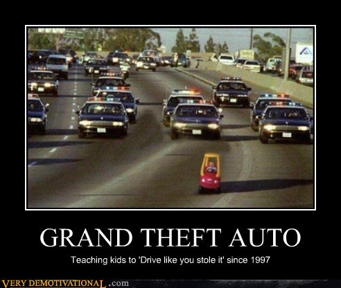 Grand Theft Auto hilarious kid video games