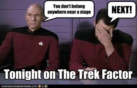 funny Jonathan Frakes patrick stewart Star Trek TV - 5678952192