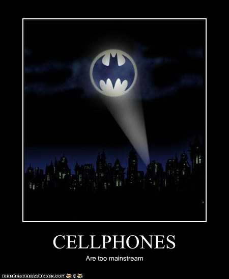 Bat signal cellphone mainstream Super-Lols - 5679000576