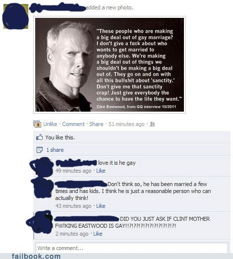 Clint Eastwood gay marriage your friends are laughing at you - 5679676672