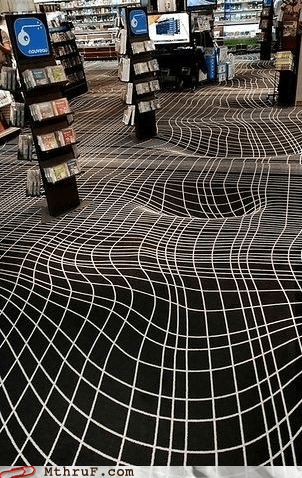 cool floor falling into the floor optical illusion - 5679705344
