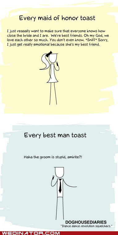 best man,comics,funny wedding photos,Maid Of Honor,wedding toast
