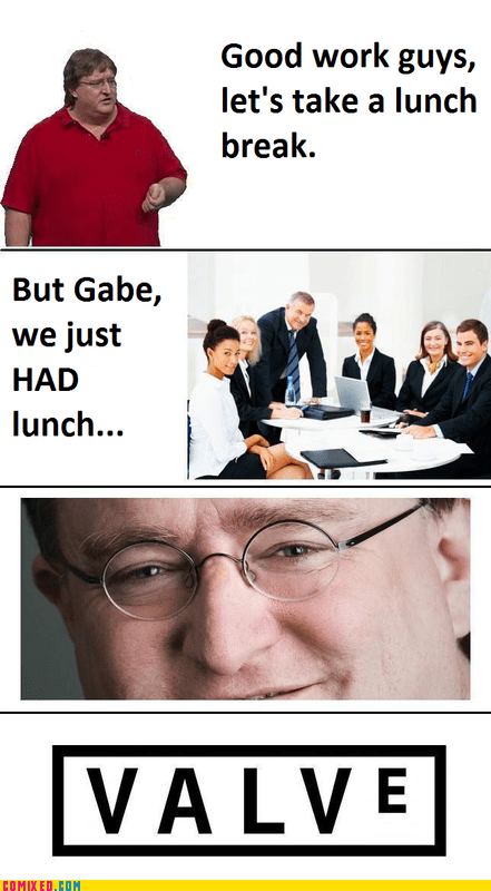 fat joke lunch meeting the internets valve - 5679907072