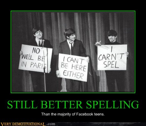 beatles,George,hilarious,Ringo,spelling