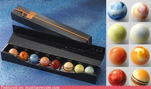 chocolate,epicute,solar system,sweets,Truffles