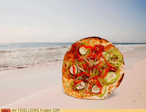 beach calendar pinups pizza sexy - 5680035328