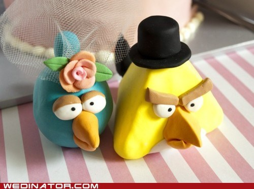 angry birds funny wedding photos geek video games - 5680044544