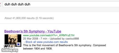 Beethoven classical music google g rated Music search win