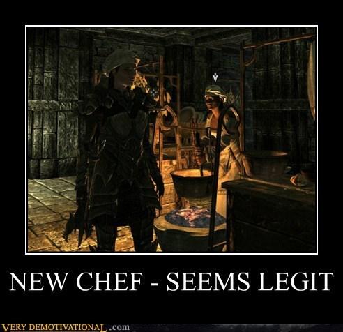 chef hat hilarious legit Skyrim wtf - 5680297728