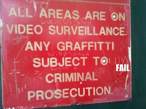 classic graffiti irony signs