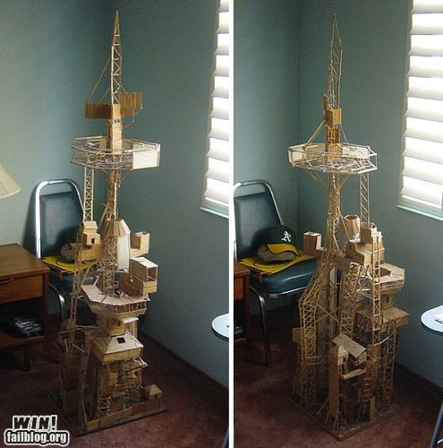 art fort model sculpture toothpick - 5680579328