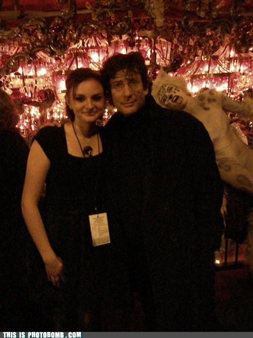 Meow-nonymous bomb on Neil Gaiman