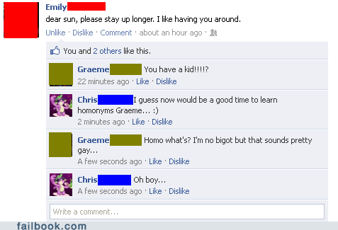 facebook,facepalm,failbook,g rated,homonyms,spelling,your friends are laughing