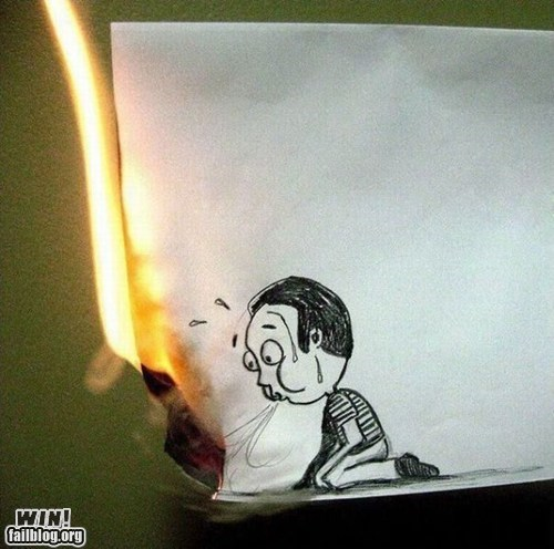 art,burning,clever,design,drawing,fire,paper