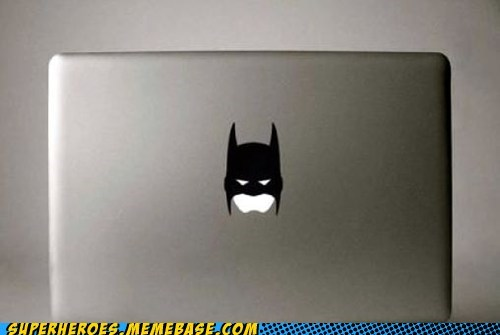 batman,mac,mask,night,Random Heroics,sticker