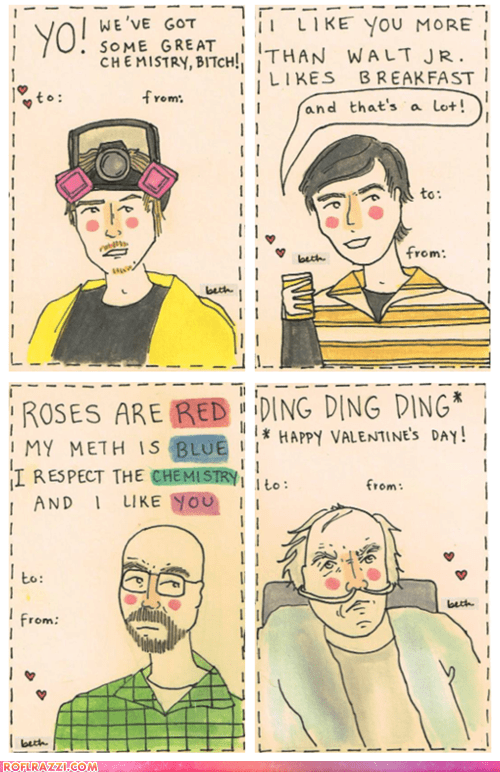 art breaking bad funny holiday TV Valentines day - 5680962816