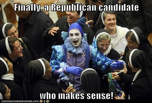 Finally, a Republican candidate who makes sense!