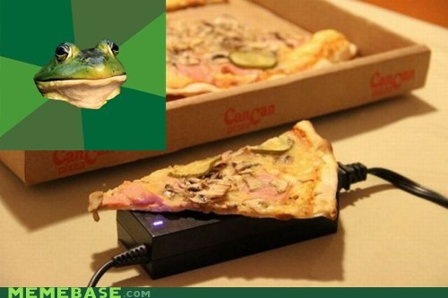 bachelor,charger,cold,foul bachelor frog,pizza