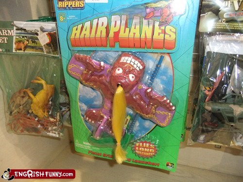 creepy toys,hair planes,hell toys