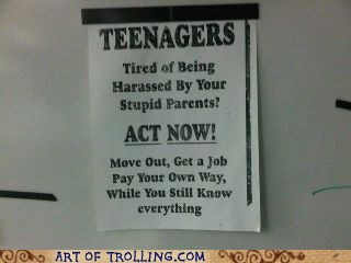 IRL,sign,teenagers,ungrateful