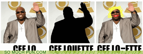 cee lo cee-lo green ette homophones literalism Reframe shoop silhouette similar sounding suffix - 5682020352