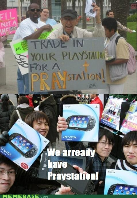 asia,Memes,playstation,pray,speech impediments,video games