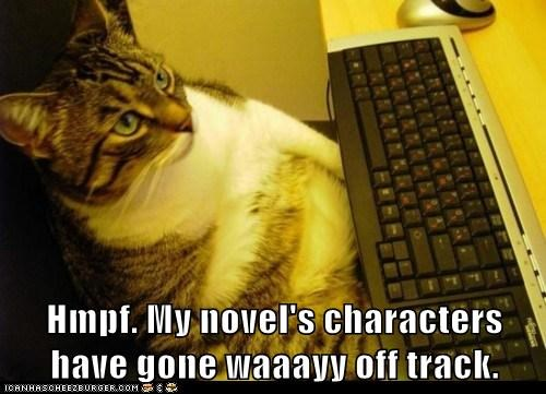 animals,book,cat,characters,computer,I Can Has Cheezburger,novel,typing,writer,writing