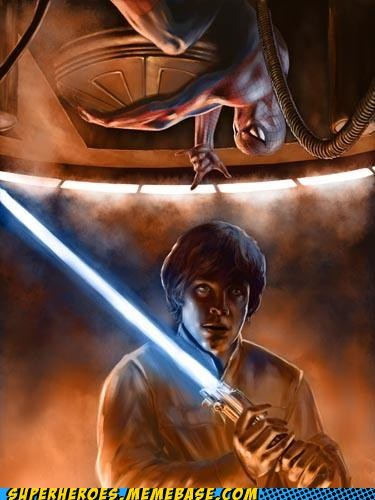Awesome Art Luke Spider-Man star wars - 5682369024