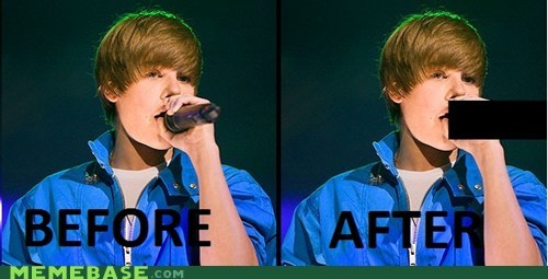 before censorship justin bieber Memes microphone weeners