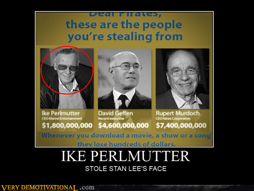 hilarious ike perlmutter picture stan lee wtf