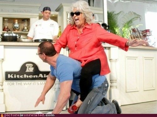 butter,kitchen,paula deen riding things,wtf