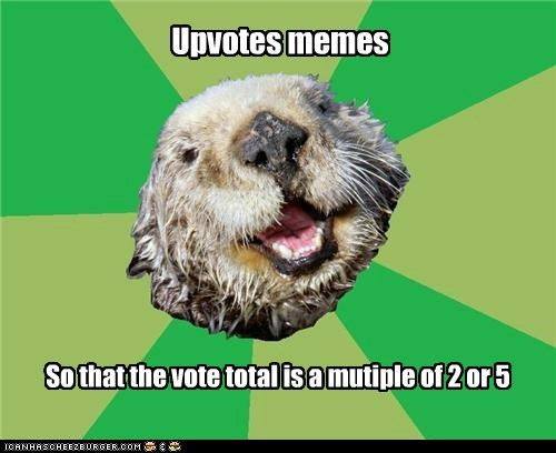 multiples numbers ocd OCD Otter otters self referential votes voting - 5683595008