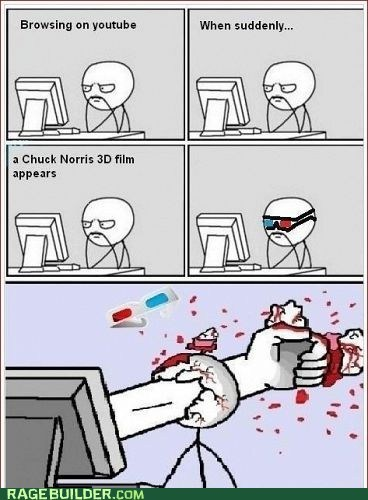 3d chuck norris Rage Comics youtube - 5683702272
