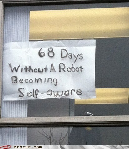 cyberdyne,getting it together,robots not self aware,terminator