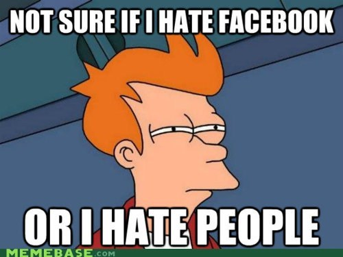 facebook fry hatred people Sad - 5684393984