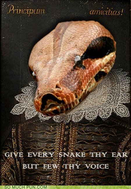 Hall of Fame juxtaposition literalism prefix shakespeare shoop similar sounding snake the bard william shakespeare pun - 5684595712