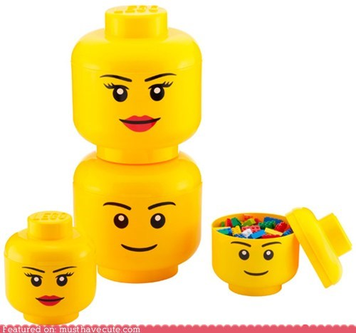 blocks head lego minifig storage toy - 5684623872
