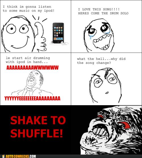 comic,ipod,rage comic,shake to shuffle,shuffle