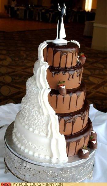 cake chocolate compromise marriage teamwork vanilla wedding - 5684720640