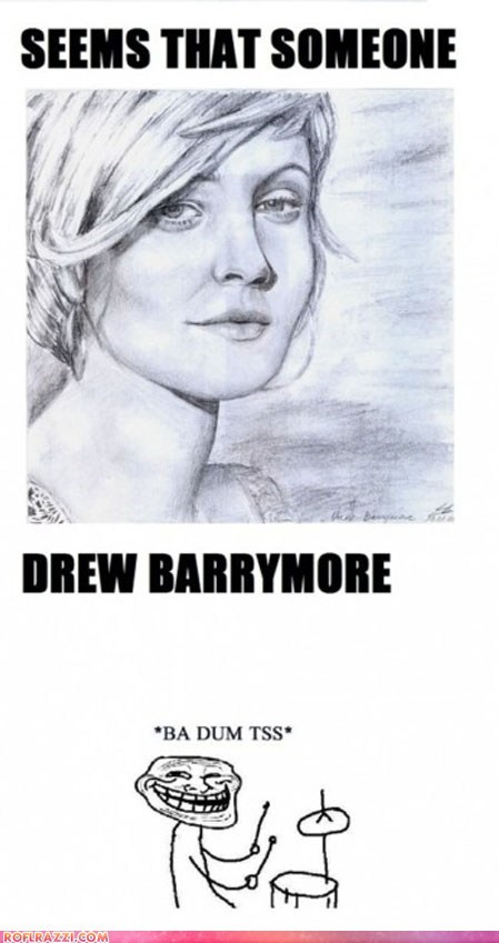 actor,art,celeb,drew barrymore,funny,Hall of Fame,meme,pun