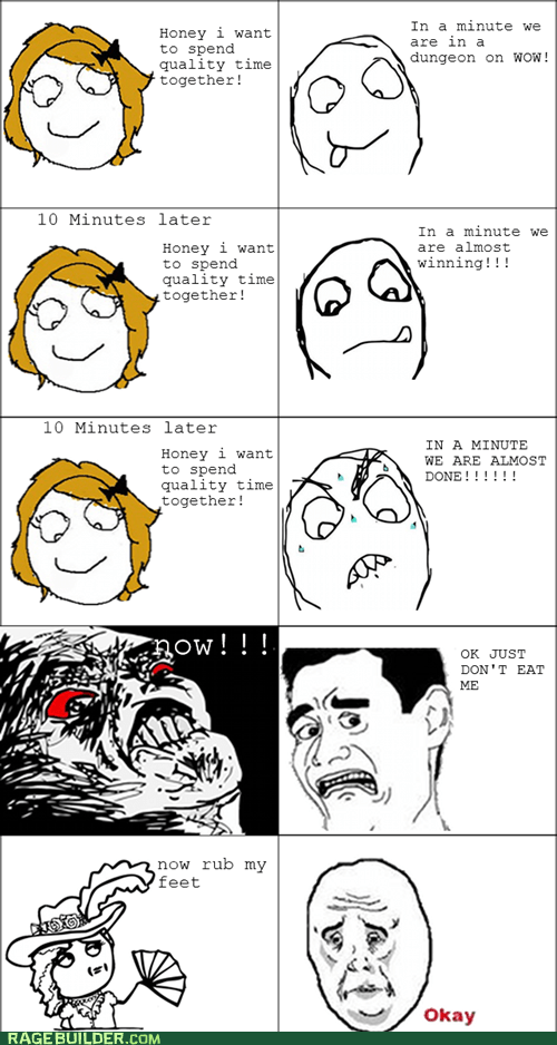 like a lady Okay quality time Rage Comics relationships - 5685040640
