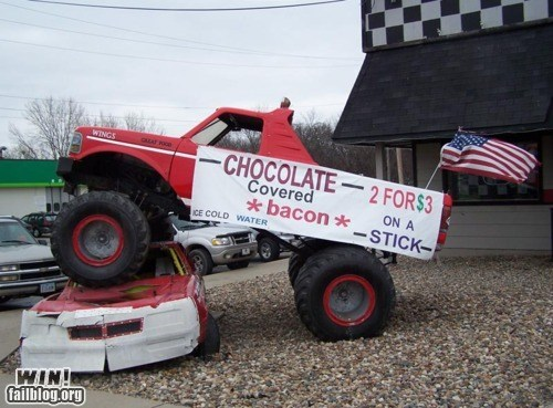 america bacon chocolate merica monster truck the internet