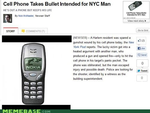 bullet gunshot Memes nokia phone - 5685483008