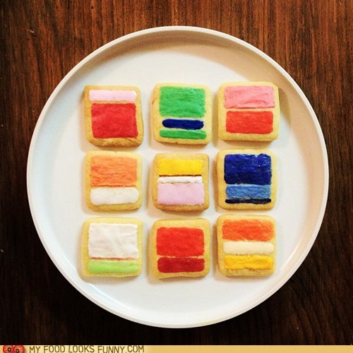 art color cookies painting rothko