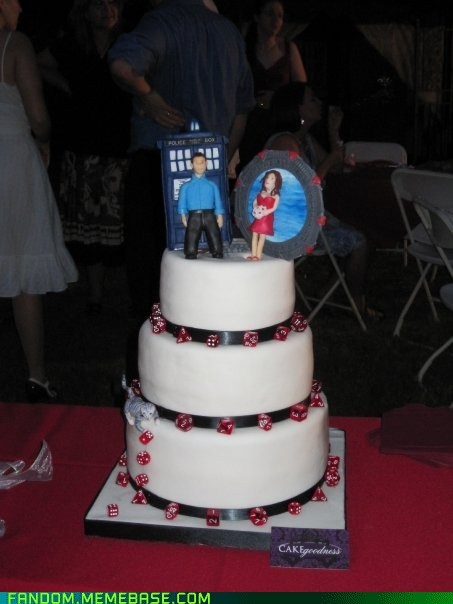 best of week,cake,crossover,doctor who,Fan Art,Stargate,wedding,Whovian