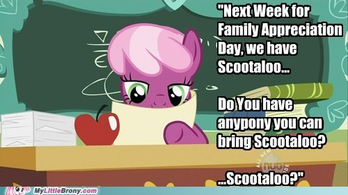 bad teacher cheerilee,cheerilee,meme,Scootaloo,teacher