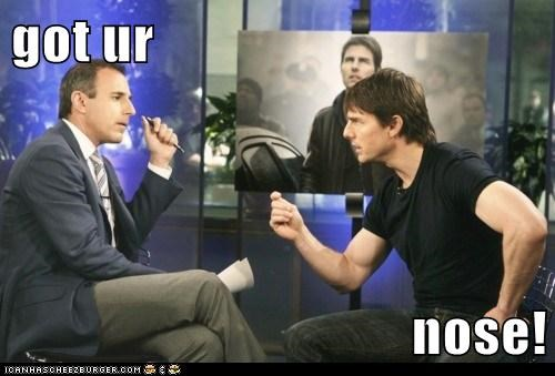 actor,celeb,funny,matt lauer,Tom Cruise